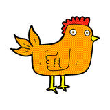 comic cartoon hen Royalty Free Stock Images