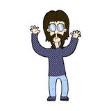 comic cartoon hippie man waving arms Royalty Free Stock Photos