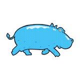 comic cartoon hippopotamus Royalty Free Stock Image