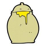 comic cartoon honey pot Royalty Free Stock Image