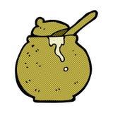 comic cartoon honey pot Stock Photos