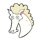 Comic cartoon horse head Royalty Free Stock Photos