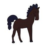 Comic cartoon horse Stock Images