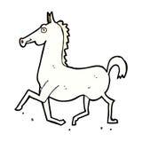 Comic cartoon horse Stock Photos
