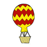 Comic cartoon hot air balloon. Retro comic book style cartoon hot air balloon Royalty Free Stock Image