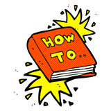Comic cartoon how to book Stock Images
