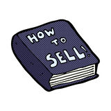 Comic cartoon how to sell book Stock Images