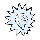 comic cartoon huge diamond Stock Images