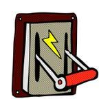Comic cartoon industrial machine lever Stock Images