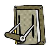 Comic cartoon industrial machine lever Royalty Free Stock Image