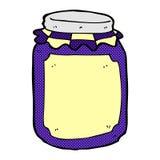 comic cartoon jar of jam Royalty Free Stock Photo