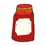 comic cartoon jar of jam Stock Photos