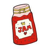 comic cartoon jar of jam Royalty Free Stock Photography