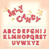 Comic cartoon jelly candy style alphabet Royalty Free Stock Images