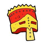 comic cartoon king's armor Royalty Free Stock Photos