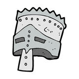 comic cartoon king's armor Royalty Free Stock Image