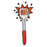 Comic cartoon kitchen spatula Stock Photo