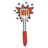 comic cartoon kitchen spatula Stock Photo