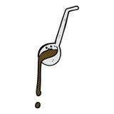 Comic cartoon ladle full of gravy. Retro comic book style cartoon ladle full of gravy Stock Images