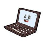 Comic cartoon laptop computer Royalty Free Stock Photography