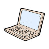 Comic cartoon laptop computer. Retro comic book style cartoon laptop computer Stock Images