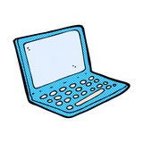 Comic cartoon laptop computer. Retro comic book style cartoon laptop computer Stock Photos