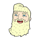 comic cartoon laughing bearded man Stock Images