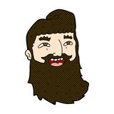comic cartoon laughing bearded man Royalty Free Stock Images