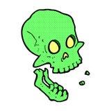 comic cartoon laughing skull Royalty Free Stock Photos