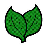 Comic cartoon leaf Royalty Free Stock Photography