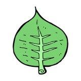 Comic cartoon leaf Royalty Free Stock Photos