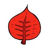 Comic cartoon leaf Royalty Free Stock Photography