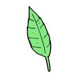 Comic cartoon leaf Stock Images