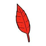 Comic cartoon leaf Royalty Free Stock Image