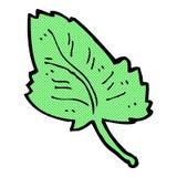 Comic cartoon leaf symbol Stock Photography