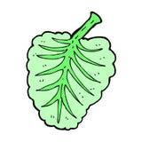 Comic cartoon leaf symbol Stock Photo