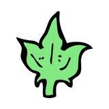 Comic cartoon leaf symbol Royalty Free Stock Image