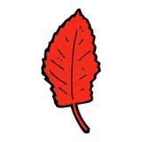 Comic cartoon leaf symbol Royalty Free Stock Photo