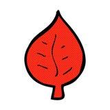 Comic cartoon leaf symbol Royalty Free Stock Photography