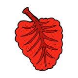 Comic cartoon leaf symbol Royalty Free Stock Photos