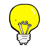 Comic cartoon light bulb Royalty Free Stock Image