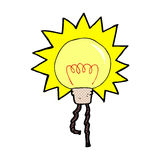 Comic cartoon light bulb Royalty Free Stock Images