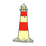 Comic cartoon light house Royalty Free Stock Photography