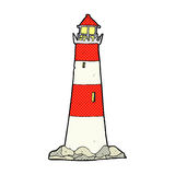 Comic cartoon light house Royalty Free Stock Photo