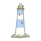 Comic cartoon light house Stock Photo