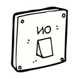 Comic cartoon light switch Royalty Free Stock Photography