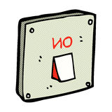 Comic cartoon light switch Royalty Free Stock Images