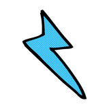 Comic cartoon lightning bolt symbol Stock Images