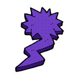 Comic cartoon lightning bolt symbol Stock Image