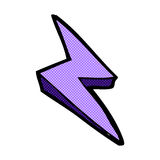 Comic cartoon lightning bolt symbol Royalty Free Stock Image